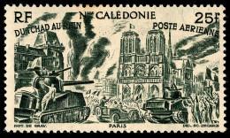 NOUV.-CALEDONIE 1946 - Yv. PA 59 **   Cote= 3,36 EUR - Du Tchad Au Rhin ..Réf.NCE23328 - Nouvelle-Calédonie