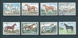 Monaco Timbre De 1970  N°831 A 838 Sur Les Chevaux Série Complete  Oblitéré - Monaco