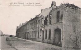 LOO (BELGIQUE) 537 LA ROUTE DE DIXMUDE 1916 - Lo-Reninge