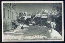 Cpa Carte Photo De Suisse Vaud Leysin Circa 1930 Avenue Rollier Avec Le Pic Chaussy JA15 52 - VD Vaud