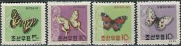 Korea (North) 1962. Michel #380/83 MNH/Luxe. Butterflies. (TS20) - Papillons
