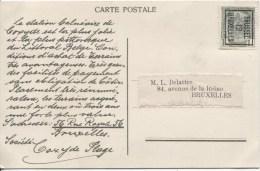 TP 81 Roulette De Bruxelles En 1912 Tarif Imprimé S/CP Publicitaire Pour La Ville De Coxyde V.E/V PR1870 - Precancels