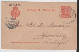 EE076//  - SPANIEN - Palamos  1905 Nach Hamburg  Con Imprento Privado - Ganzsachen