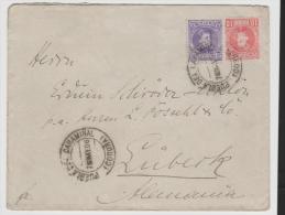 EP034/ Brief, Alfonso  1906 10 Und 15 C Nach Lübeck, Deutschland, Ex Pueblo Del Caraminal