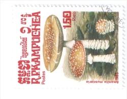 KAMPUCHEA 1985 FUNGHI USATO - Kampuchea