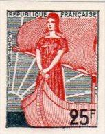 MARIANNE A LA NEF 1959 - 25F ND (N°1216) - 1959-60 Marianne à La Nef