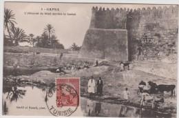Tunisie : GAFSA  :l  Abreuvoir  Du   Bétail        ( Timbre ) - Tunisie
