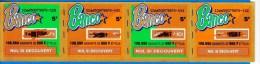 4 BANCO ATTACHES TICKET DE GRATTAGE PARFAIT LOTERIE FDJ FRANCAISE DES JEUX 126650079970-129 A 132 EMISSION ISB N° 44 - Billets De Loterie