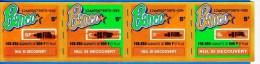4 BANCO ATTACHES TICKET DE GRATTAGE PARFAIT LOTERIE FDJ FRANCAISE DES JEUX 126650079970-092 A 095 EMISSION ISB N° 44 - Billets De Loterie