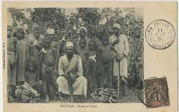 Sultanat Anjouan Comoros Quelques Types Enfants Nus Avec Leur Bananes Epluchées Timbrée Non Voyagé Coll. Essivda No 8 - Comores
