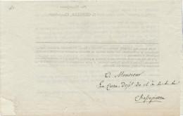 Partie De Document De L' Eveque De NAMUR  En 1833 Vers Le Curé De CHASSEPIERRE - Province Du LUXEMBOURG --  WW305 - 1830-1849 (Belgique Indépendante)