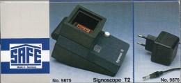 WZ-Sucher T2+Adapter 103€ Prüfen Wasserzeichen In Briefmarken Check Of Stamps Paper Wmkd. SAFE #9875+9876 Ohne Batterien - Pinces, Loupes Et Microscopes