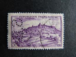 FRANCE S N° 759 1946 S.B 21 Indice 3 Perforé Perforés Perfins Perfin Superbe - France