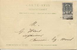 TP 53 Roulette Bruxelles 1902 S/CP Publicitaire 'Le Patriote'v.Boussu-Lez-Mons PR1877 - Roller Precancels 1900-09
