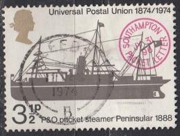 Gran Bretagna, 1974 - 3 1/2p Packet Peninsular - Nr.720 Usato° - 1952-.... (Elisabetta II)