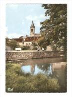 CM : 18 - Sancergues : Le Clocher & La Vauvise : Eglise - Maisons - Personnes Sur Le Pont - Sancergues