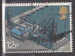 Gran Bretagna, 1975 - 12p Parliament - Nr.753 Usato° - 1952-.... (Elisabetta II)