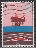 Gran Bretagna, 1978 - 9p Oil Production Platform - Nr.827 Usato° - 1952-.... (Elisabetta II)