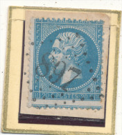 N°22 SUR FRAGMENT PIQUAGE A CHEVAL. - 1862 Napoléon III