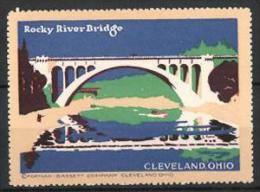 Vignette Publicitaire Cleveland Ohio, Rocky River-Bridge, Pont - Cinderellas