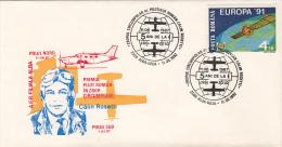 1193FM- CALIN ROSETTI, FIRST ROMANIAN CIRCUMPOLAR FLOGHT, PLANE, SPECIAL COVER, 1987, ROMANIA - Polar Flights