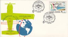 1195FM- CALIN ROSETTI, FIRST ROMANIAN CIRCUMPOLAR FLIGHT, SPECIAL COVER, 1992, ROMANIA - Polar Flights