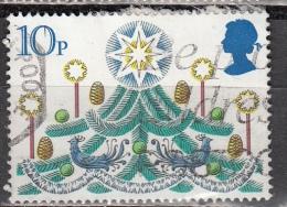 Gran Bretagna, 1980 - 10p Christmas Tree With Candle - Nr.928 Usato° - 1952-.... (Elisabetta II)