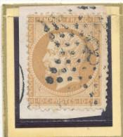 N°21 SUR FRAGMENT ETOILE 8. - 1862 Napoléon III