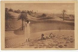 Oasis 87 Farniente Enfants Nus Bain De Soleil Dans Le Sable Coll. Prouho Hussein Dey Algerie - Children