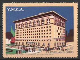 Reklamemarke Cleveland Ohio, Y.M.C.A., Gebäudeansicht - Cinderellas