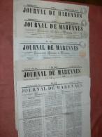 MARENNES   / 1850 /  1851 /1853 :  JOURNAL LOT 6 NUMEROS / FEUILLE COMMERCIALE / AFFICHES ET LITTERAIRE - 1800 - 1849