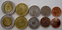 EGITTO SERIE 5 MONETE CON BIMETALLICA SFINGE 1 FDC UNC - Egitto