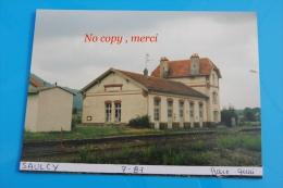 1 Photo - Gare De SAULCY Quai - Treinen