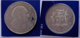 JAMAICA 1 $ 1979 CU NI PROOF BUSTAMANTE DOLLARO FIRST PRIME MINISTER CONSERVAZIONE FONDO SPECCHIO - Giamaica