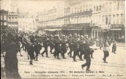 MONS : Occupation Allemeande 1914 - WW1 - Fifres et  Tambours - Grand'Place