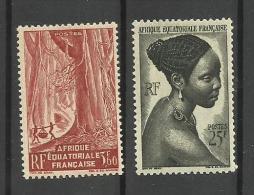 Afrique Equatoriale Française N°219, 226 Neufs Avec Charnière - A.E.F. (1936-1958)
