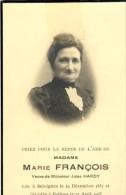 Souvenir Mortuaire -Madame Marie François, Née à Seloignes Et Décédée à Baileux En 1935 - Momignies