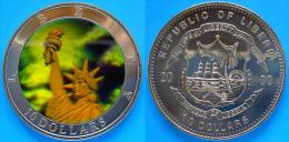 LIBERIA 10 DOLLARI 2000 HOLOGRAM FDC UNC - Liberia