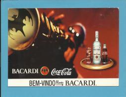 BACARDI E COCA COLA - Bem-Vindo Ao Mundo BACARDI - ADVERTISING - Poscard From PORTUGAL- 2 Scans - Alcools
