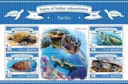 MALDIVES 2015 - Turtles. Official Issue - Schildpadden