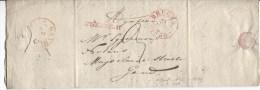 LAC Daté De Brugge 1836 C.Bruges 31/1/1836 Gff Après Le Départ Taxée 3 V.Gand C.d'arrivée PR1887 - 1830-1849 (Belgique Indépendante)
