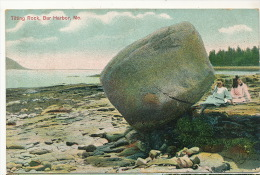 Bar Harbor Tilting Rock   P. Used 1909  Editor  The Metropolitan - United States