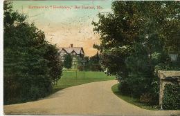 "Bar Harbor  Entrance To "" Hauterive ""   P. Used 1909  Editor  Valentine - Etats-Unis"