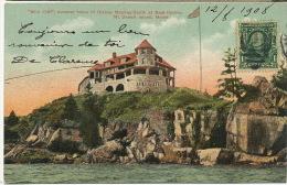 "Bar Harbor "" Wild Cliff "" Summer Home Of Bishop Mackay Smithar Seal Harbor Mt Desert Island  P. Used 1908 Edit Morris - Etats-Unis"