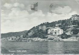 VARAZZE- VILLA  ARABA -  VIAGGIATA - 1955 -FRANCOBOLLO  ASPORTATO - IMPERFEZIONI  VARIE - INCHIOSTRO  SUL  DAVANTI - - Autres Villes