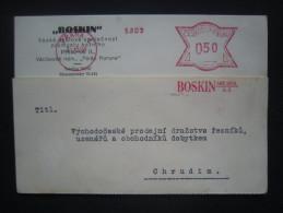 BRIEF Frankotype Freistempel Postfreistempel 1928 Praha 1 BOSKIN /// Tm2075