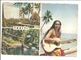 TAHITI   Tahitienne A La Guitare,baie A Matavai   ETAT - Tahiti