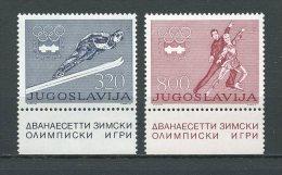YOUGOSLAV 1976 N° 1519/1520 ** Neufs  = MNH Superbes  Cote 1.65 € Sports JO Hiver Innsbruck Jeux Games Ski Patinage - Unused Stamps