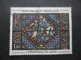 France N°1427 VITRAIL  De La Cathedrale De Sens Oblitéré - Verres & Vitraux