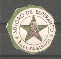 Viñeta De Autor De Esperanto  Dro. L.L. Zamenhofa - Otros